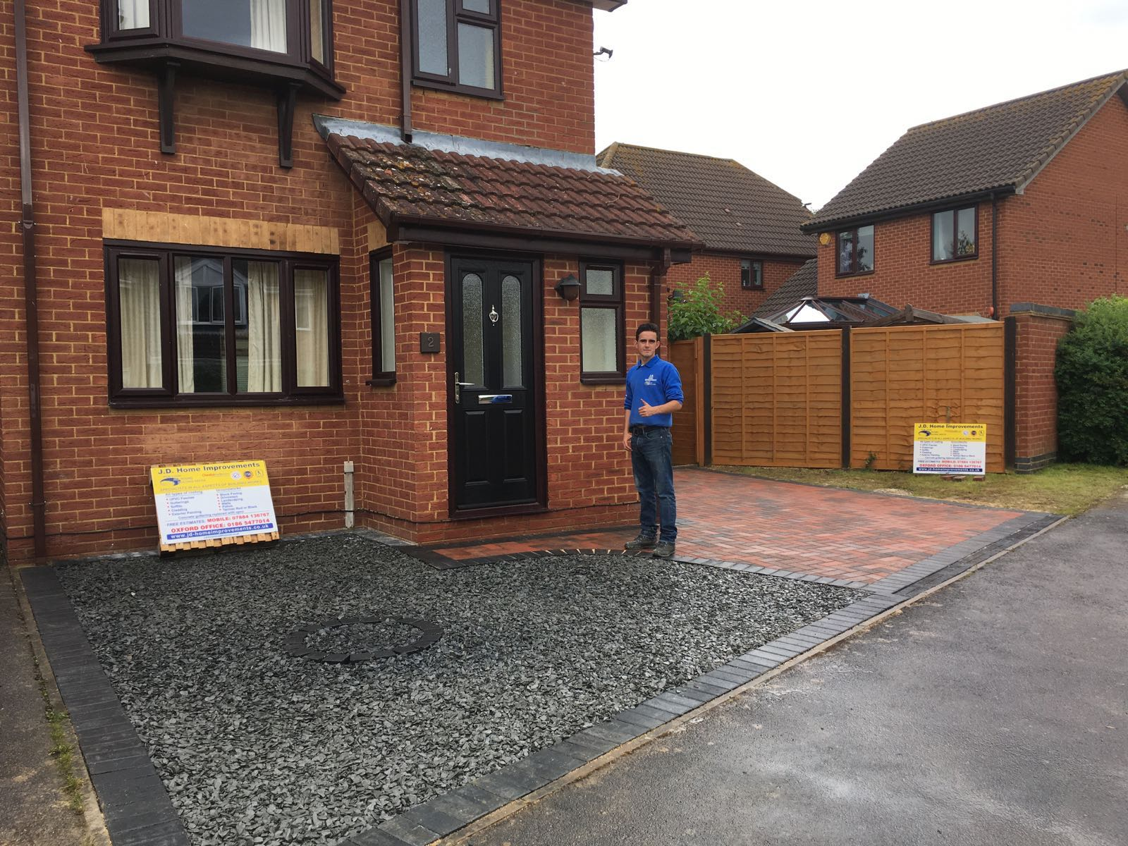 recent project for driveways in Yatton - image shows a block paving driveway